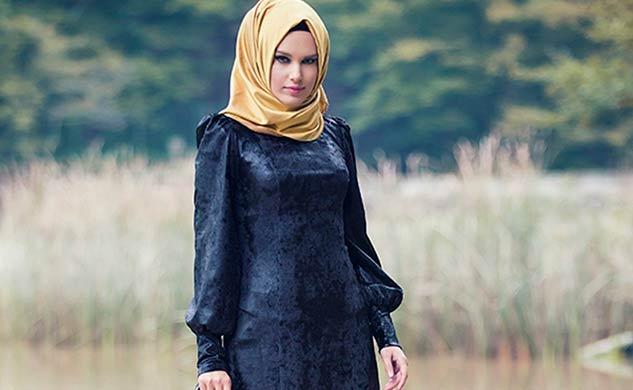 70a450fb95e6a Tozlu büyük beden tesettür abiye elbise modelleri 2017