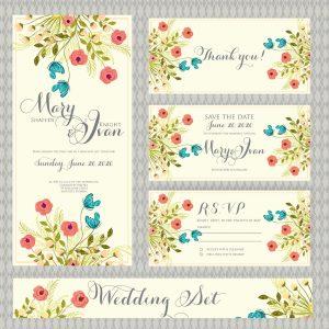 kır düğünü için özel davetiye modelleri